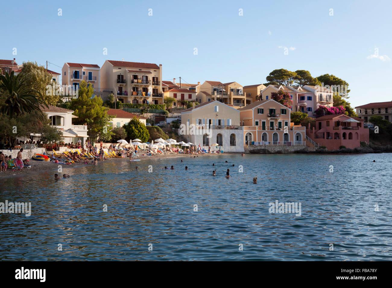 Assos bay, Kefalonia, Ionian Islands, Greece - Stock Image