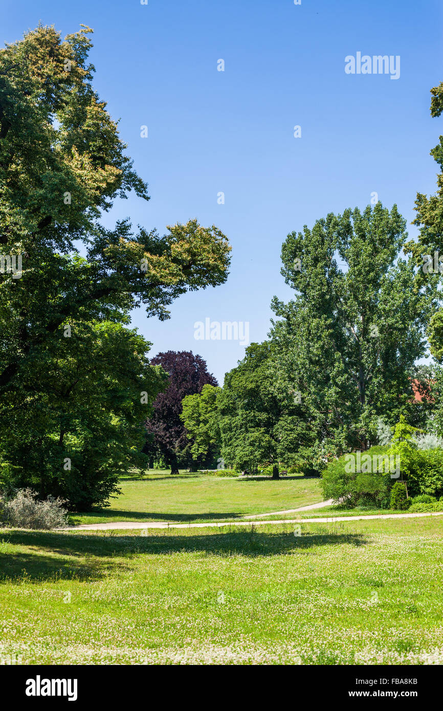 Lennepark in Frankfurt (Oder), Germany on a sunny afternoon Stock Photo