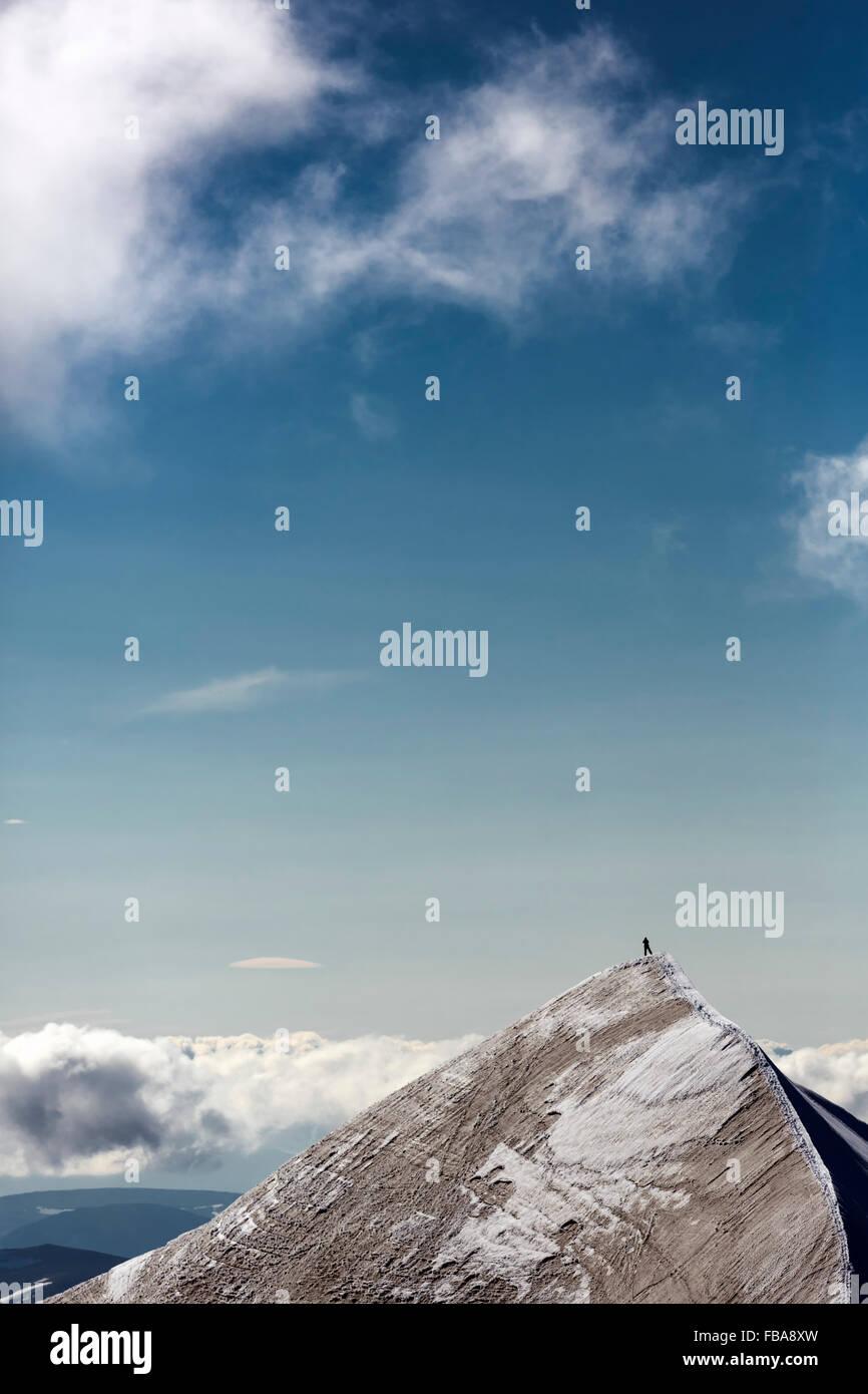 Sweden, Lapland, Peak of Kebnekaise mountain - Stock Image