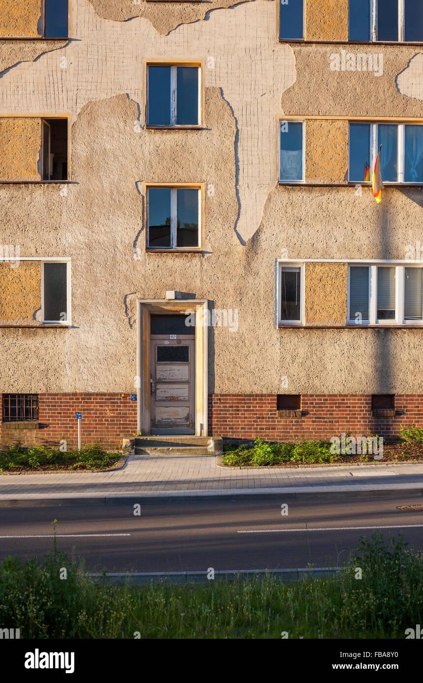Apartment building in Frankfurt (Oder), Brandenburg (former East Germany) Stock Photo