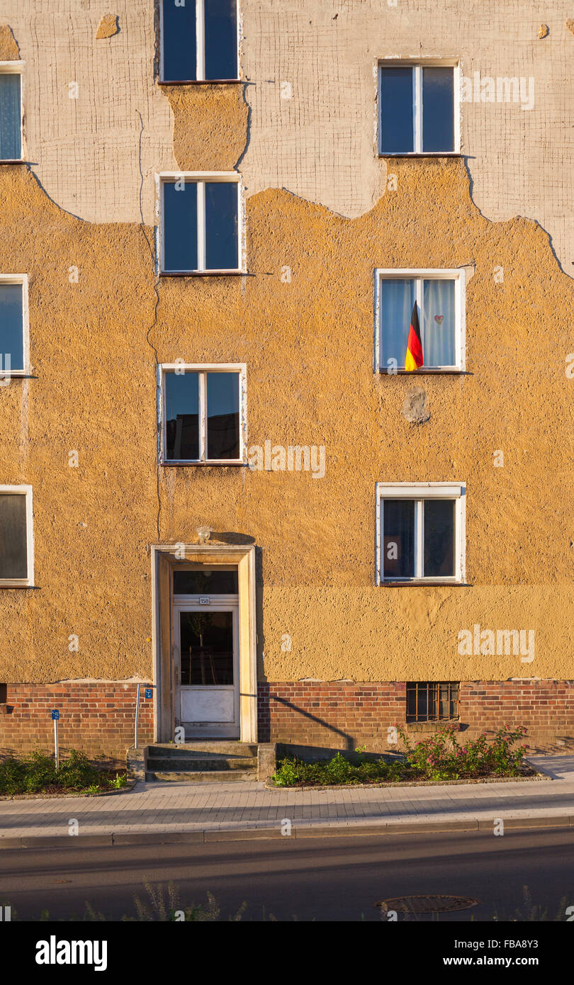 Apartment building in Frankfurt (Oder), Brandenburg (former East Germany) Stock Photo