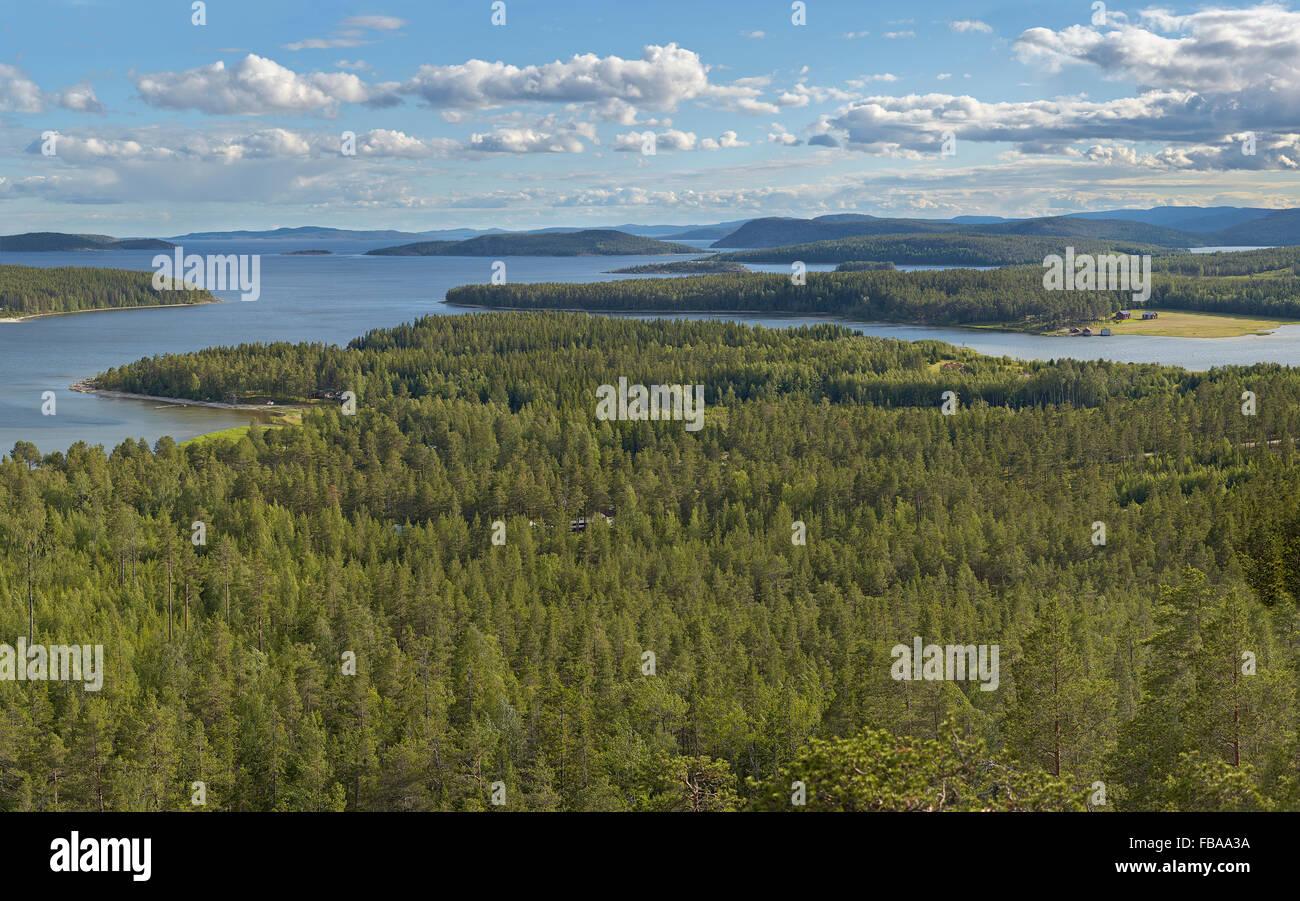 Sweden, Angermanland, Hoga Kusten, Sorvage, Scenic view of archipelago - Stock Image
