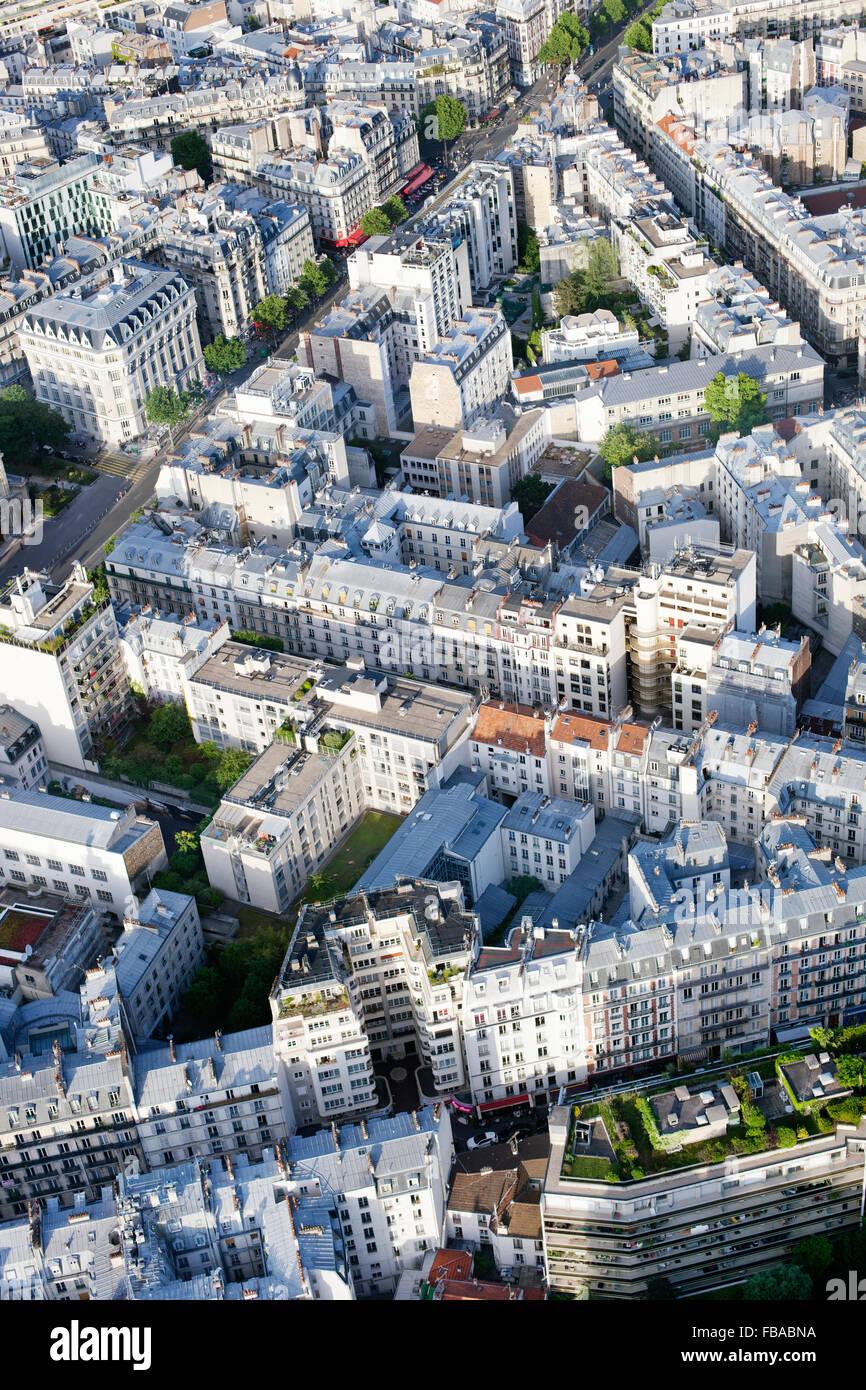 France, Ile-de-France, Paris, Aerial view of city - Stock Image