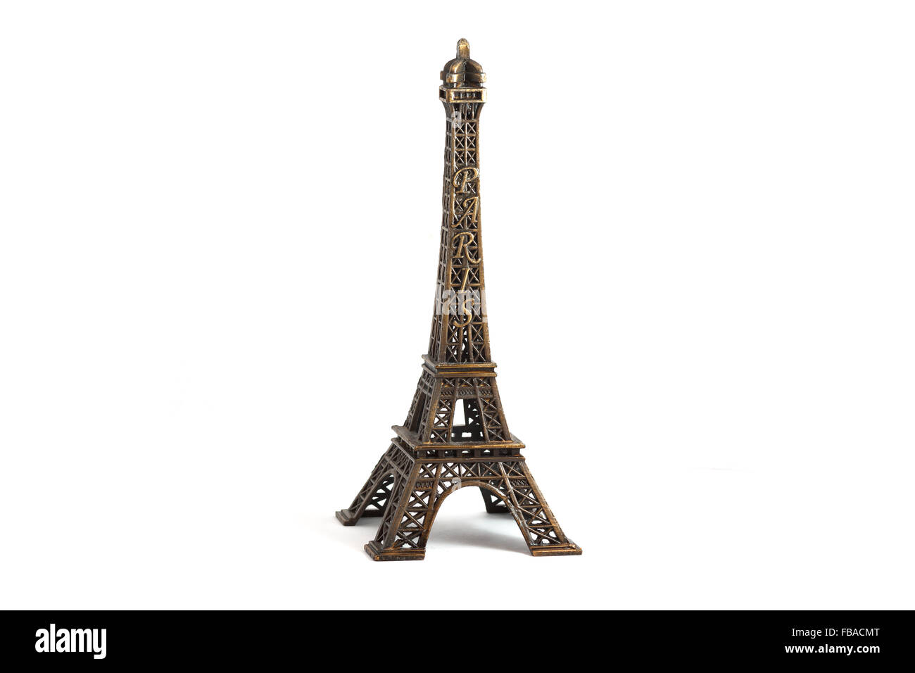 Eiffel Tower isolated on white Stock Photo
