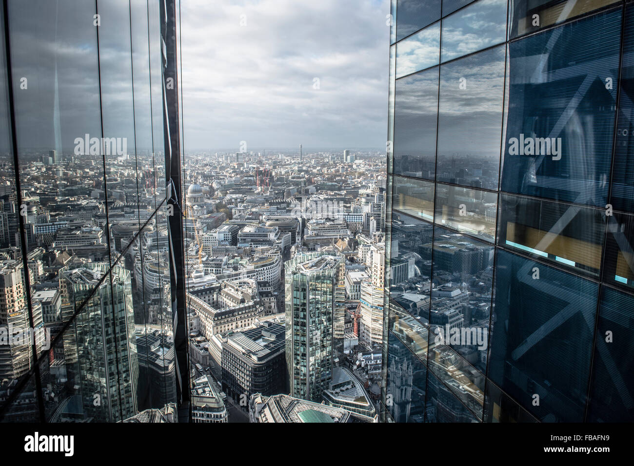 View from the Leadenhall building, the Cheesegrater - Stock Image