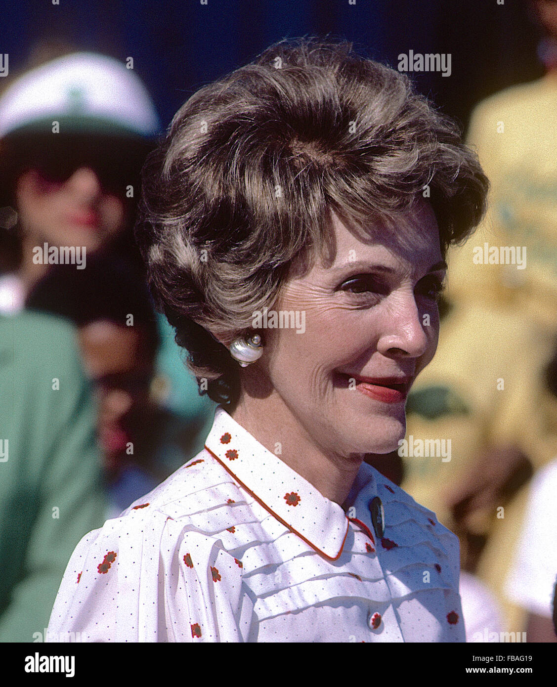 Washington, DC. USA, 1985 First Lady Nancy Reagan at  the 'Just Say No Club' event on the South Lawn of - Stock Image