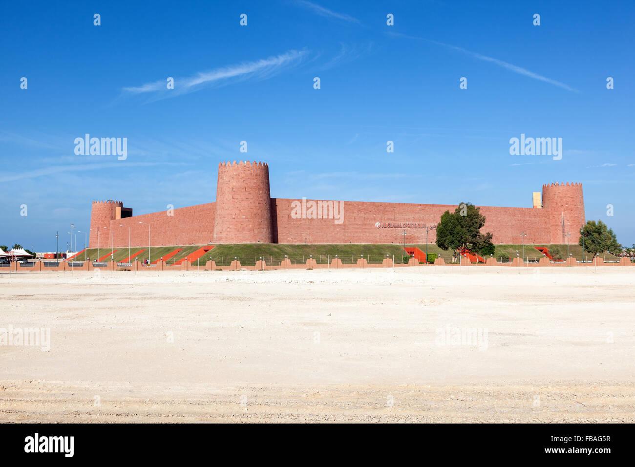 New Al Shamal Sports Club stadium in Al Ruwais - Stock Image