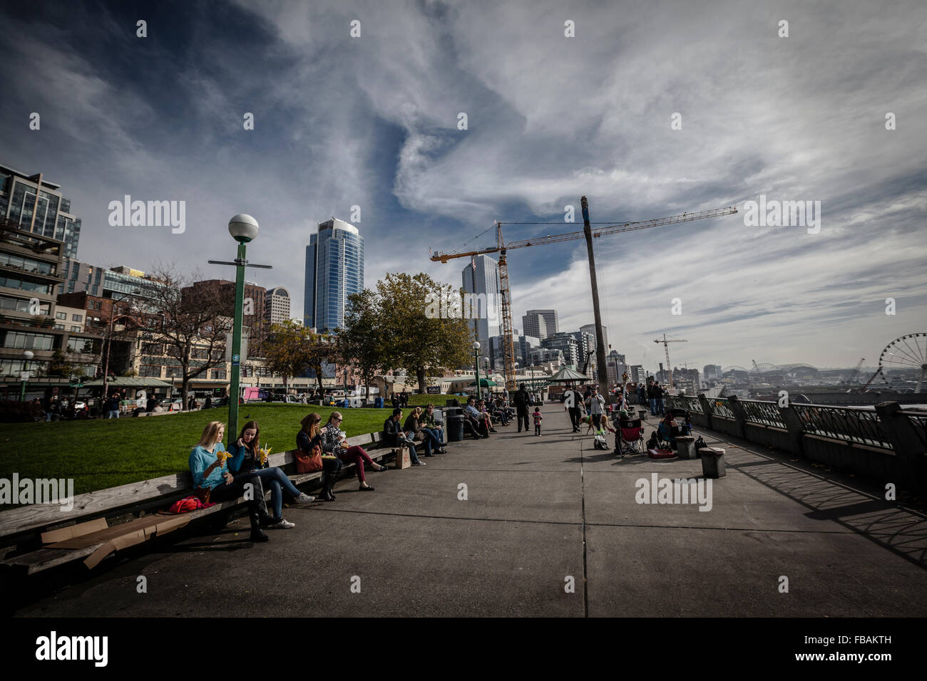 People at Victor Steinbrueck Park, Seattle, Washington state - Stock Image