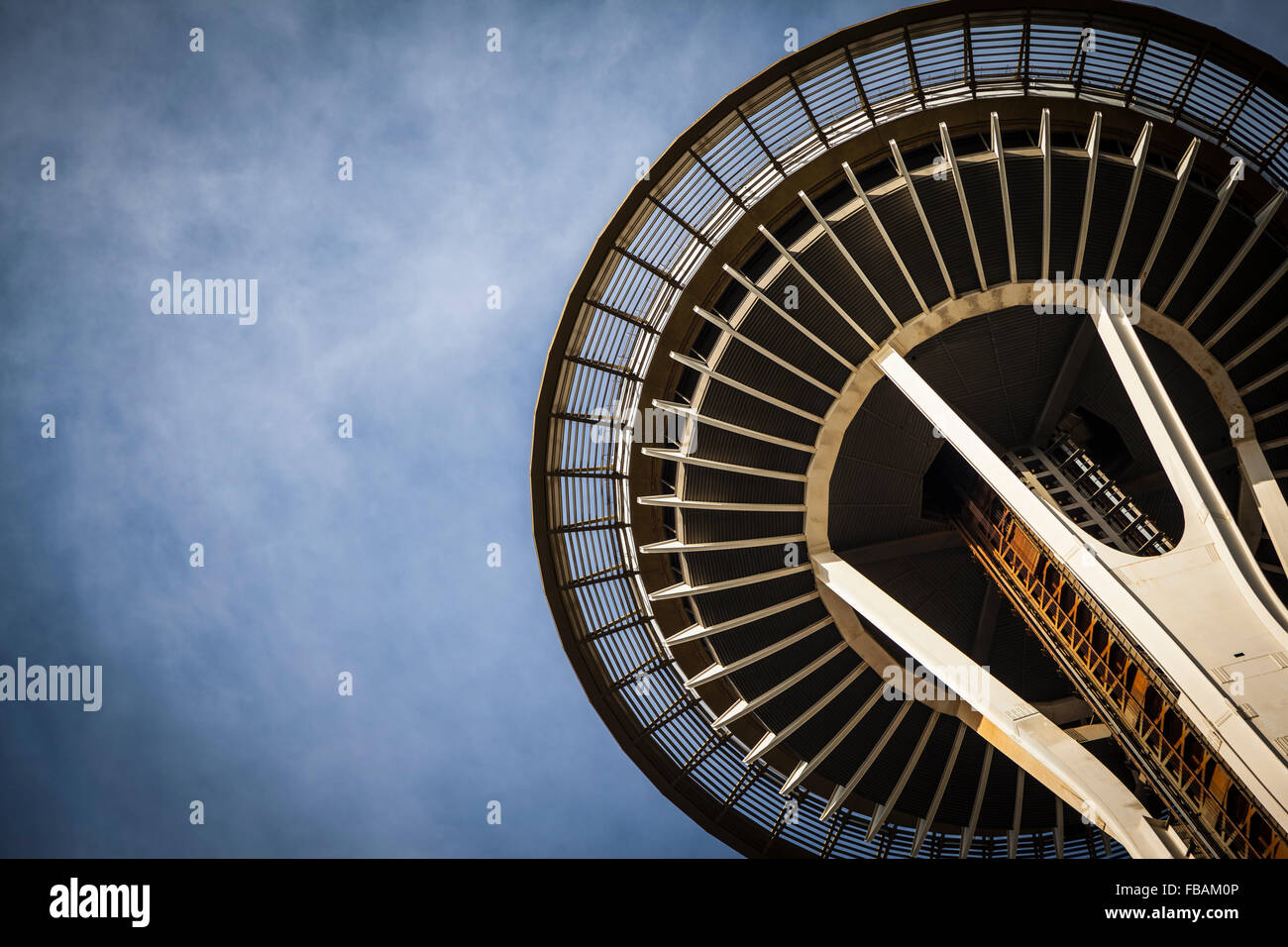 The Space Needle, in Seattle, Washington. - Stock Image