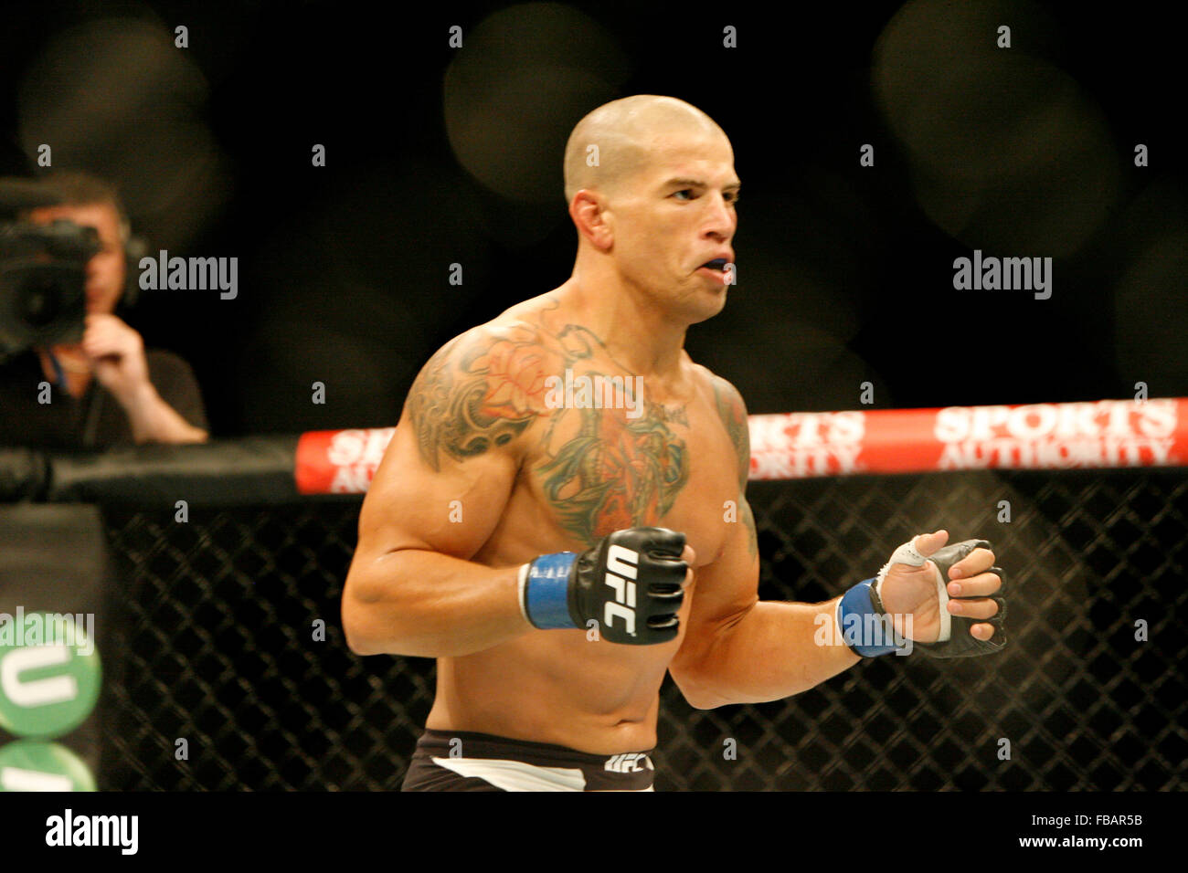 Leonardo Mafra during UFC Fight Night 72: Bisping vs Leites at The SSE Hydro on Saturday the 18 of July 2015, Glasgow, - Stock Image