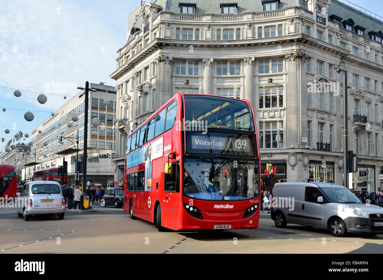 Double Decker Bus In Oxford Circus