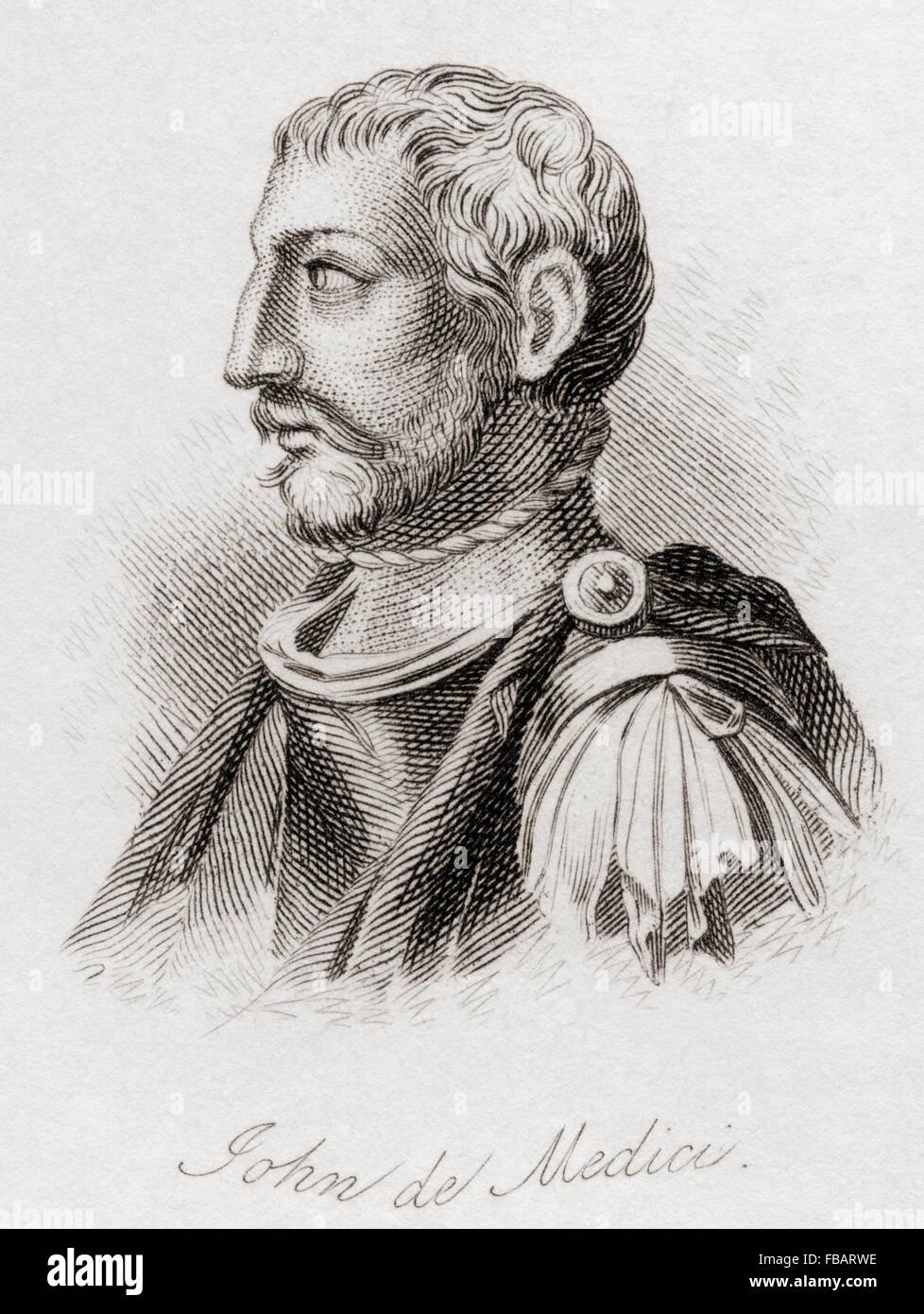 Giovanni di Cosimo de' Medici, 1421 – 1463.  Italian banker and patron of arts. - Stock Image