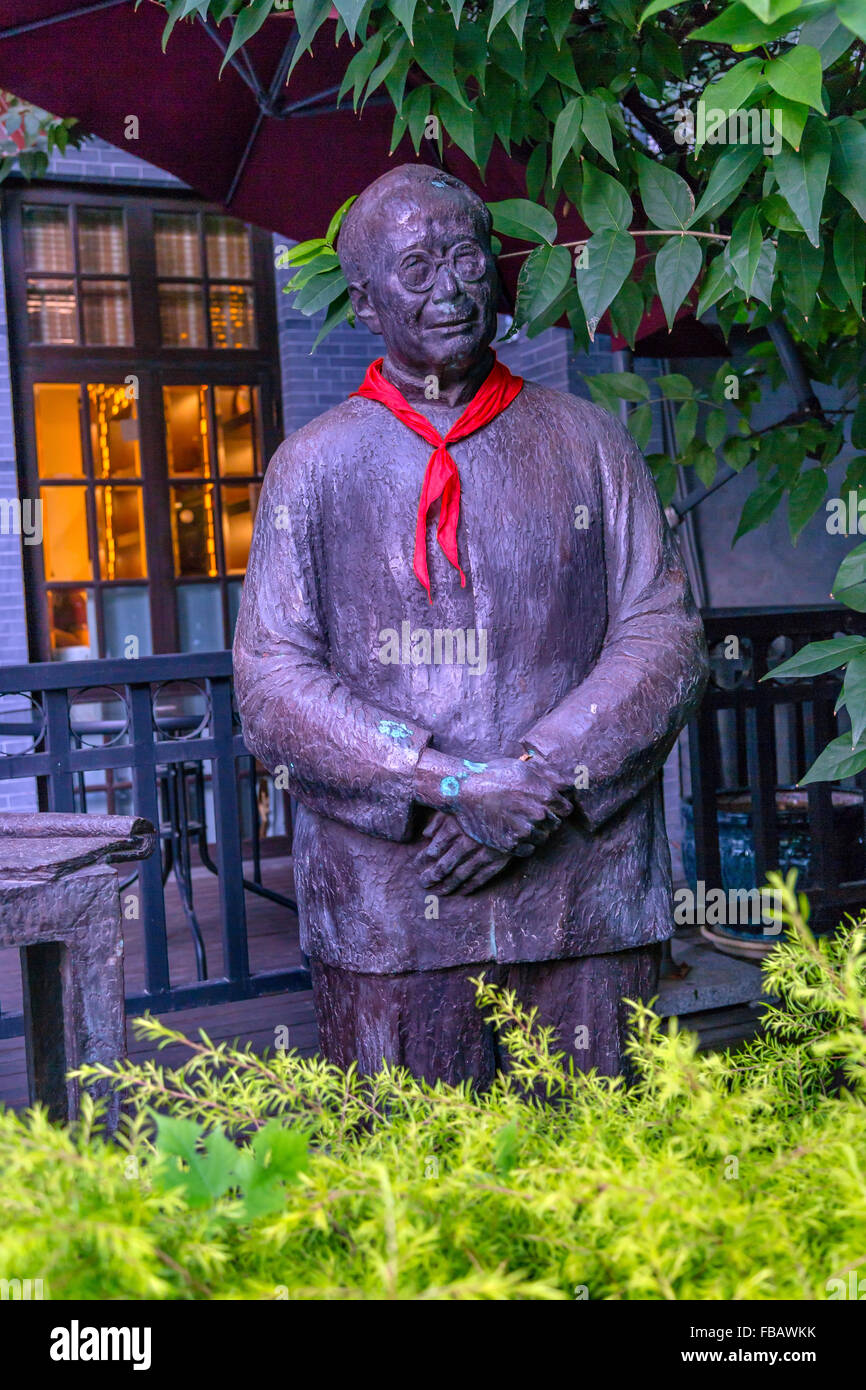 League of Leftist Writers Martyrs Bronze Statue Old Duolon Cultural Road Hongkou Shanghai, China - Stock Image