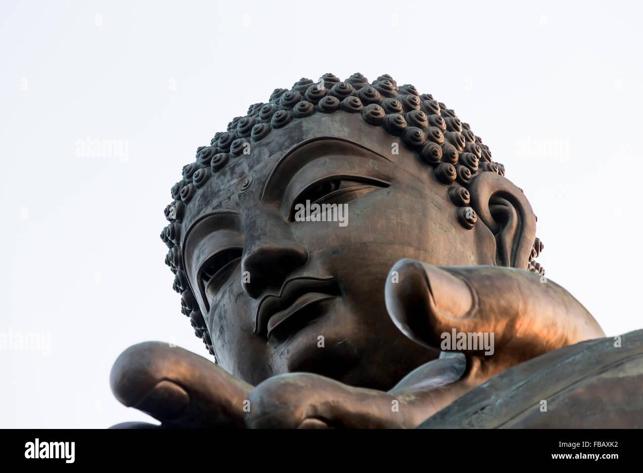 Giant Buddha, Lantau Island - Hong Kong Stock Photo