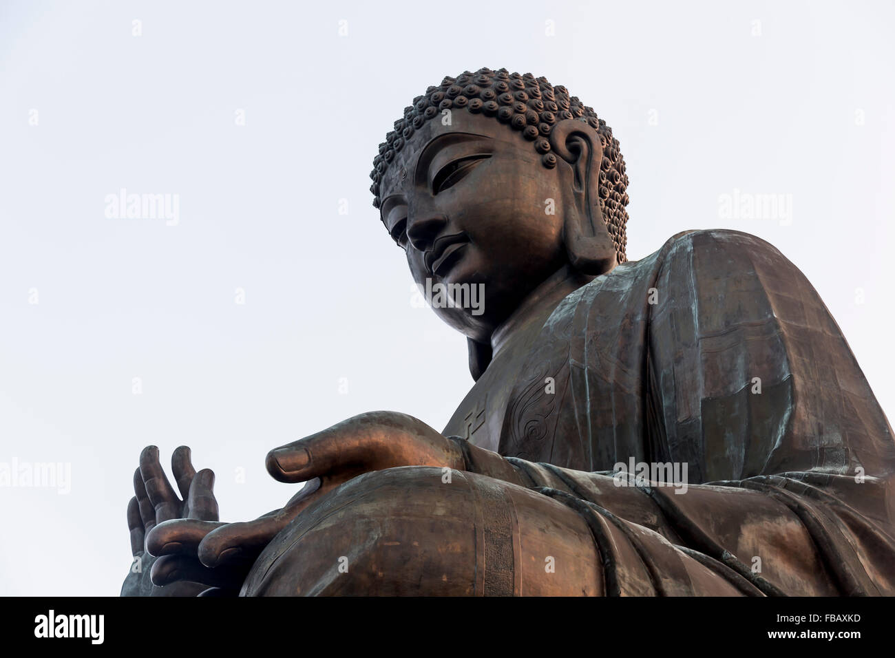 Giant Buddha at Po Lin Monastery, Hong Kong. - Stock Image