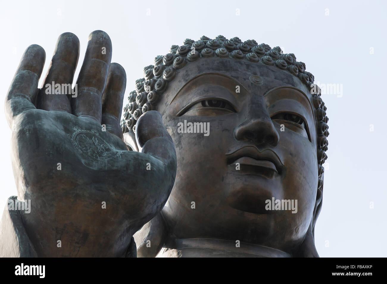 Po Lin Monastery Buddha Statue, Hong Kong Stock Photo