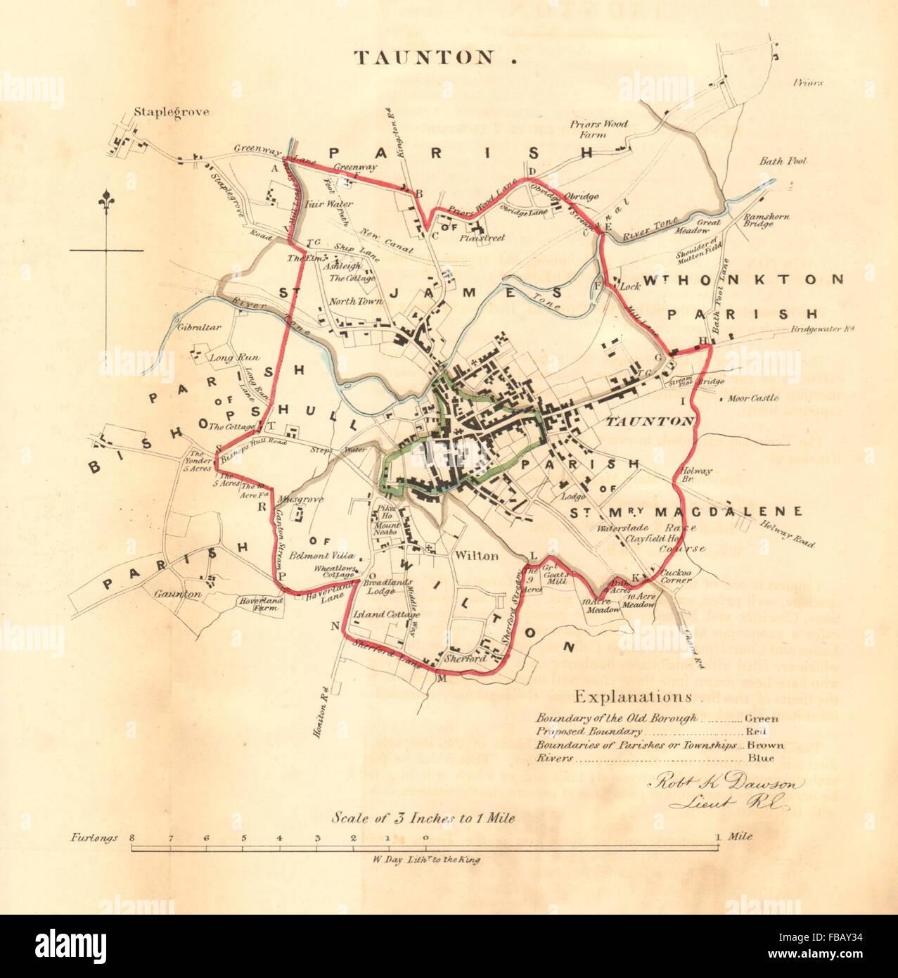 TAUNTON borough/town plan  REFORM ACT  Staplegrove  Somerset