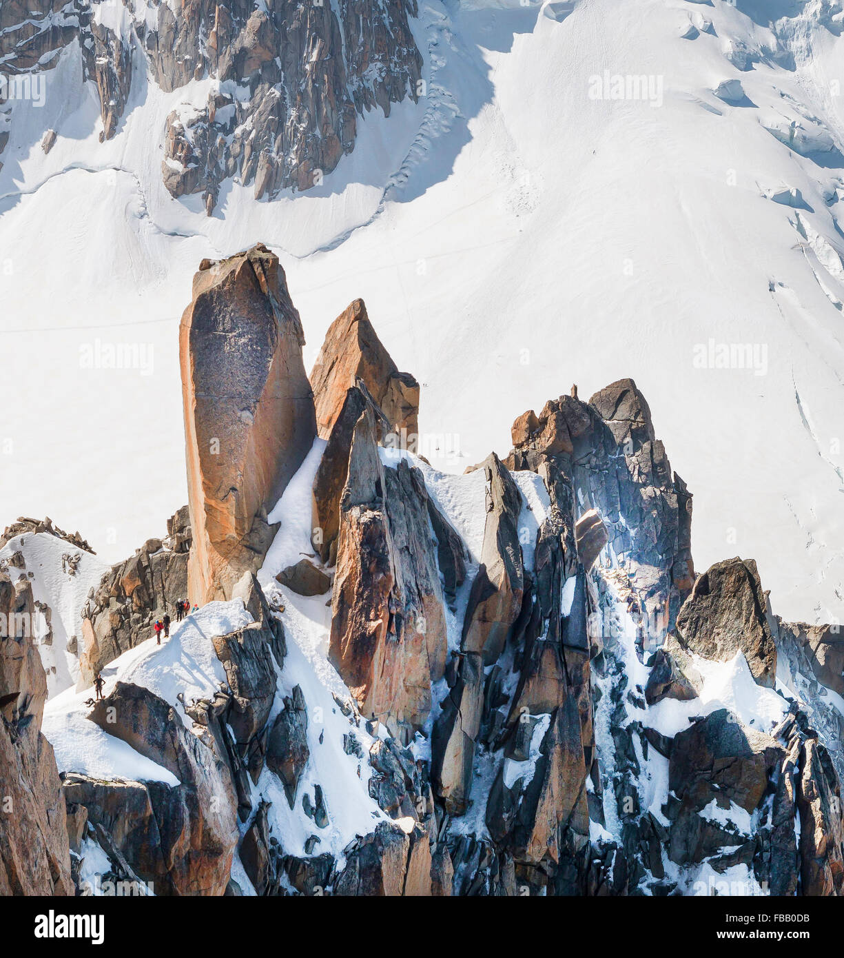 Trekking  and recreation in  the  Alps mountains , in summer. Tourism background. Stock Photo