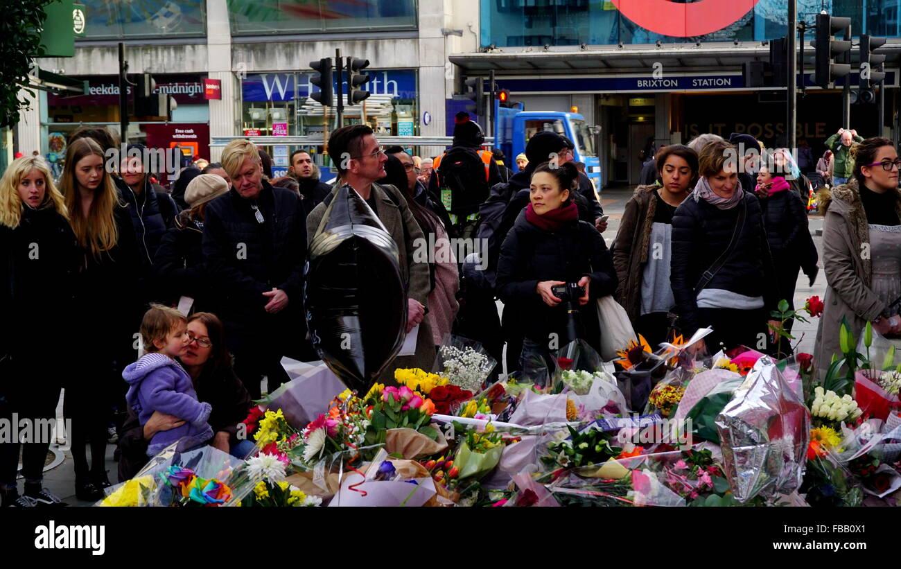 David Bowie memorial site, Brixton. - Stock Image