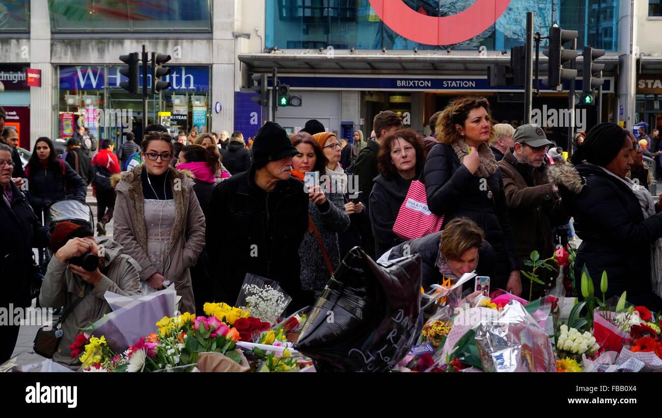 David Bowie memorial site, Brixton - Stock Image