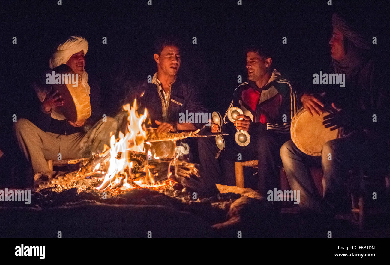 Nomad campfire songs - Stock Image