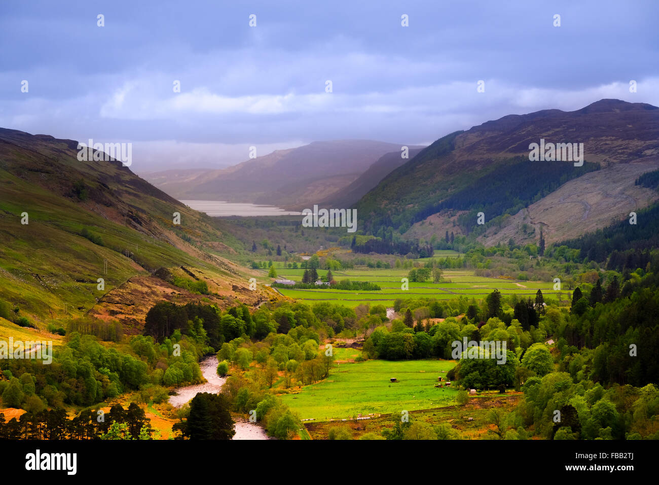 A beautiful vista view of Scotland's west coast near Ullapool. - Stock Image
