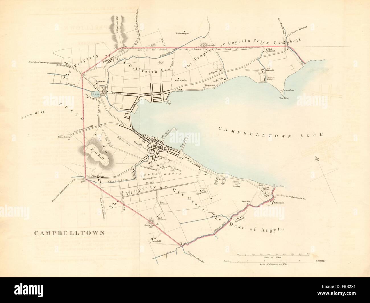 Campbeltown Scotland Map.Campbeltown Borough Town Plan Reform Act Campbelltown Scotland