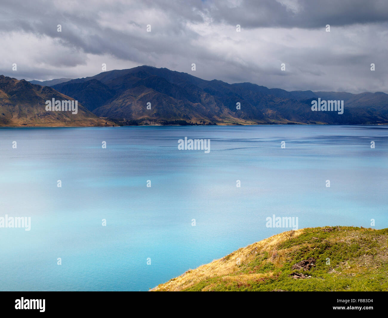 Lake Hawea, South Island, New Zealand - Stock Image