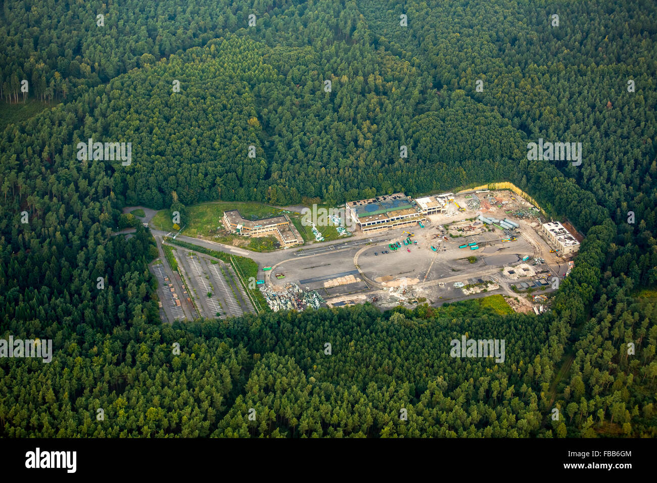 Aerial view, tear mine Haard mine holders 1/2, mining, structural change, Oer-Erkenschwick, Münsterland, North - Stock Image