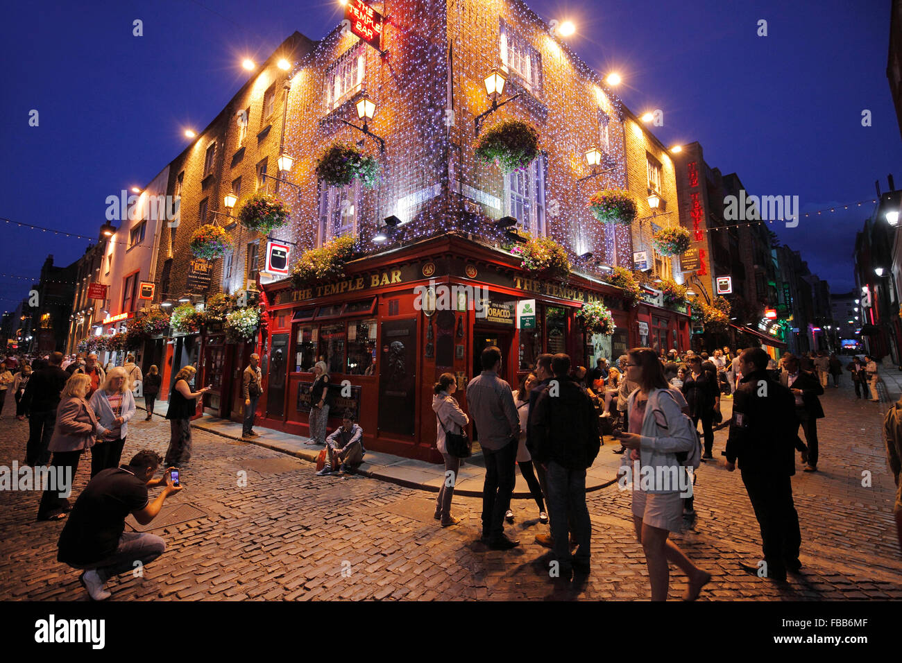 The Temple Bar in Dublin - Stock Image