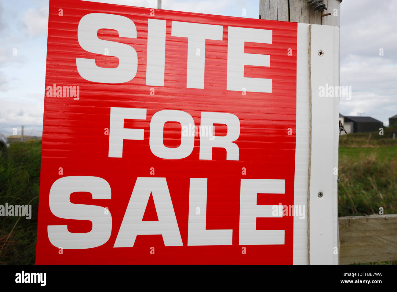 site for sale sign - Stock Image