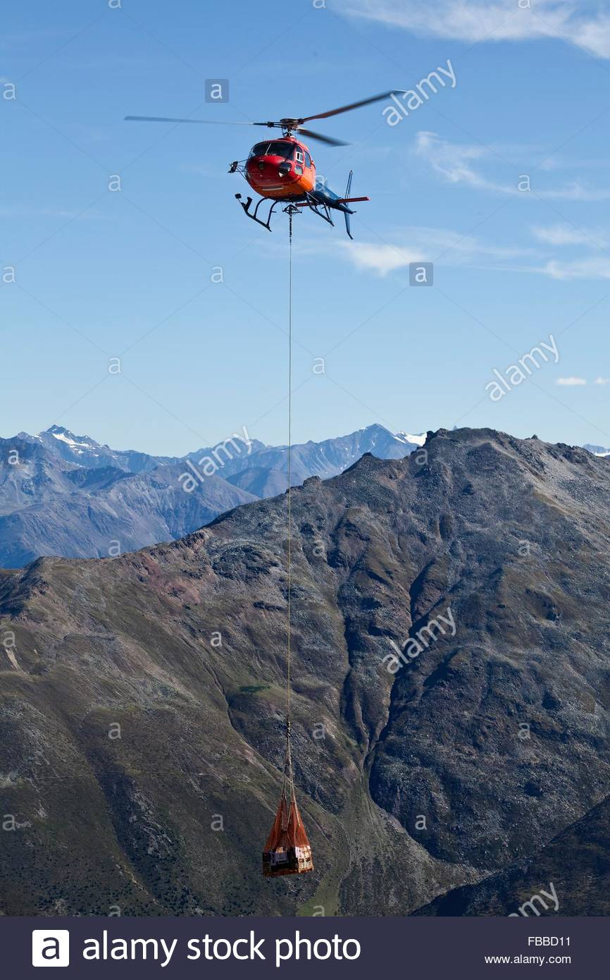 helicopter rescue,south tyrol Stock Photo