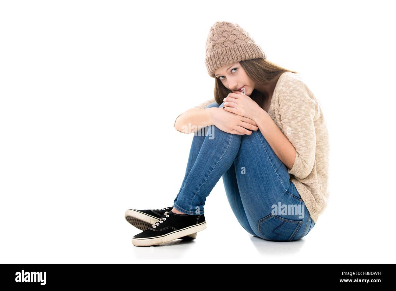 Rubbed horny teen girl