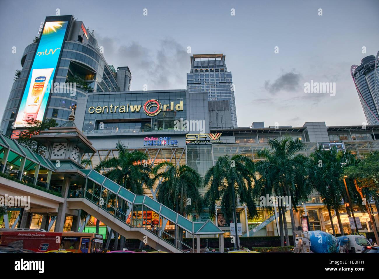 Central World Shopping Mall in Bangkok, Thailand - Stock Image