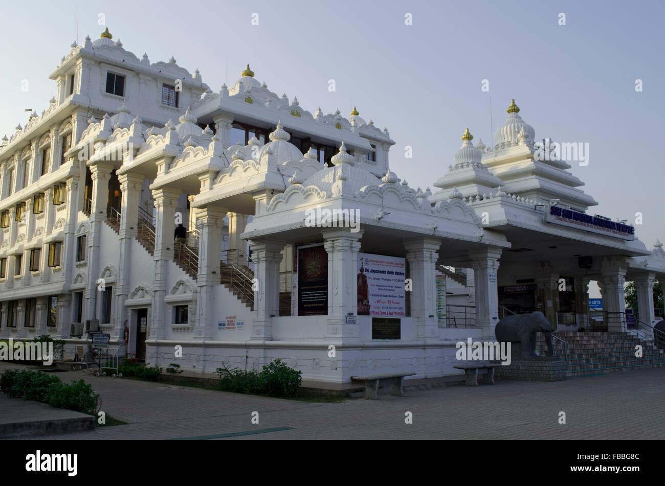 ISKCON Temple Chennai, Madras, Tamil Nadu, India, Asia Stock Photo