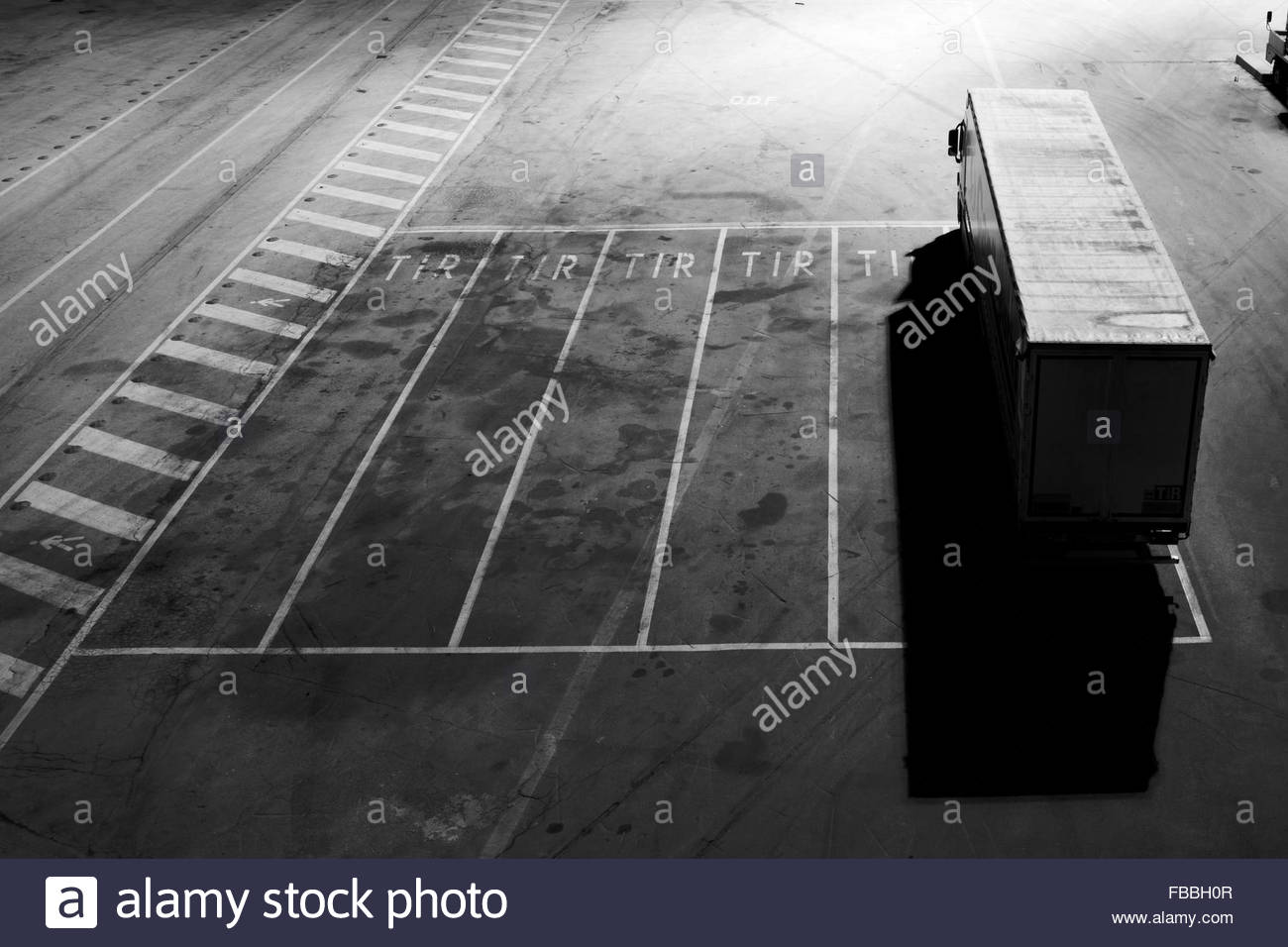 Track in a parking lot - Stock Image