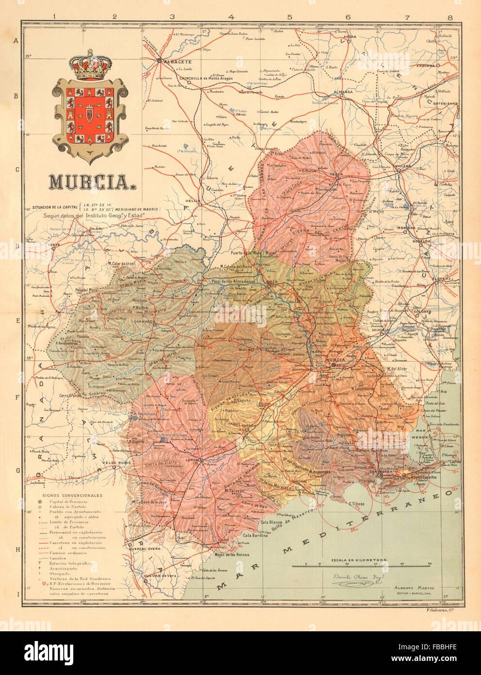 Mapa Region De Murcia.Region De Murcia Stock Photos Region De Murcia Stock