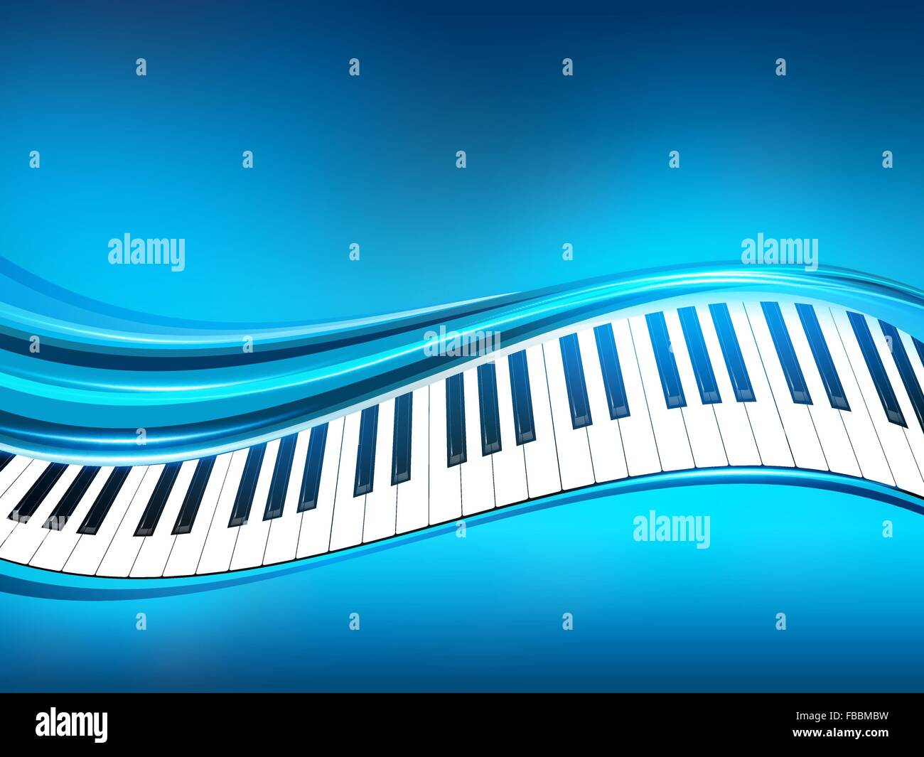 Blue Piano Background Vector Abstract Illustration EPS10