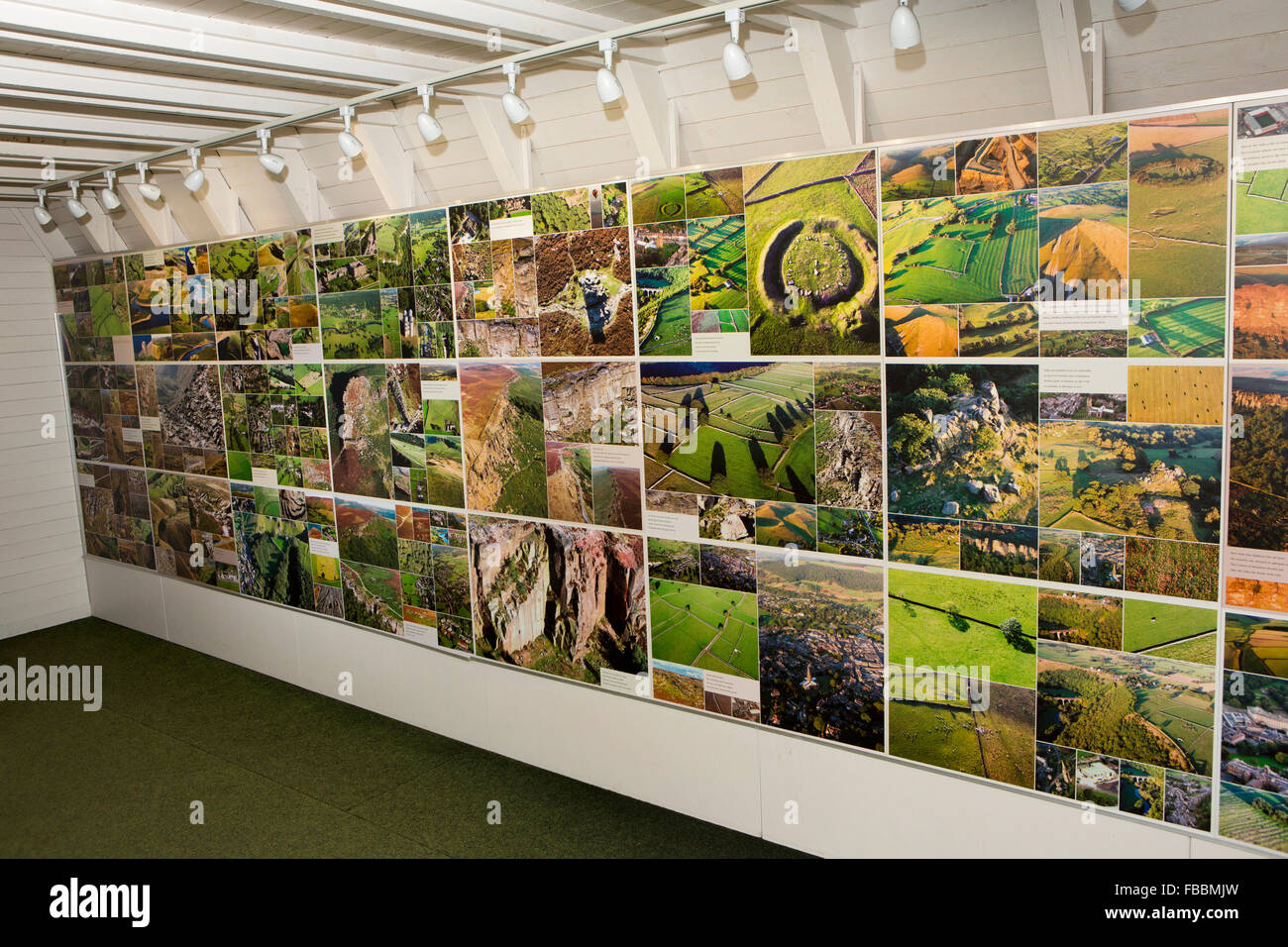 UK, England, Derbyshire, Matlock Bath, Heights of Abraham, Peak District Landscape photography exhibition panel - Stock Image