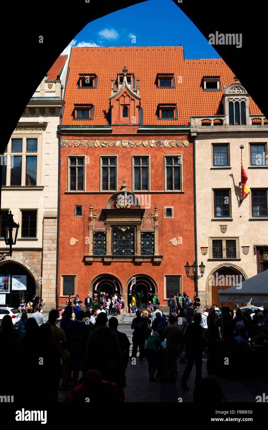 Council Hall building, Old town Hall, Prague, Czech Republic - Stock Image
