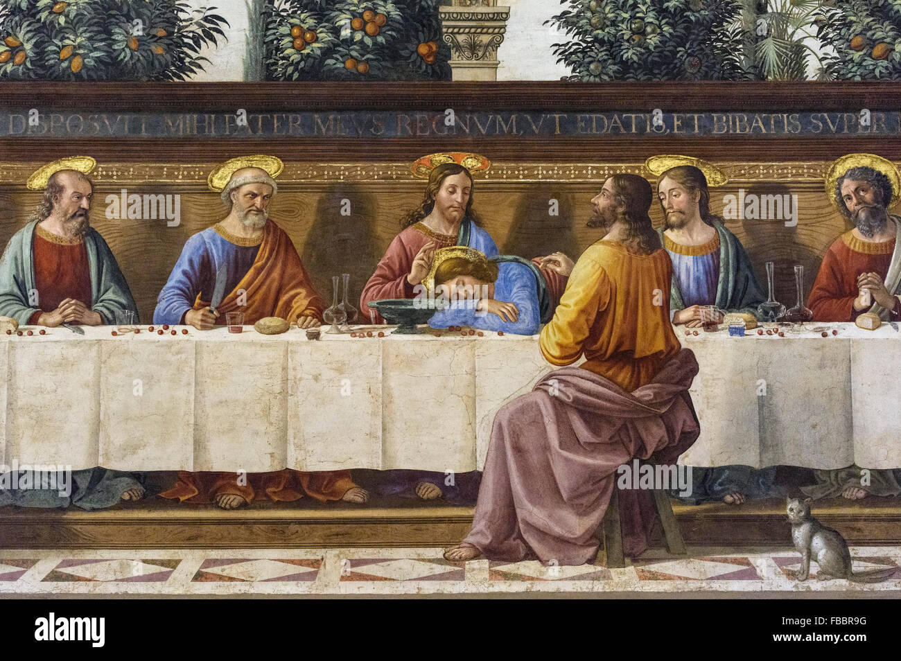 Florence. Italy. The Last Supper, (ca. 1486), fresco by Domenico ...