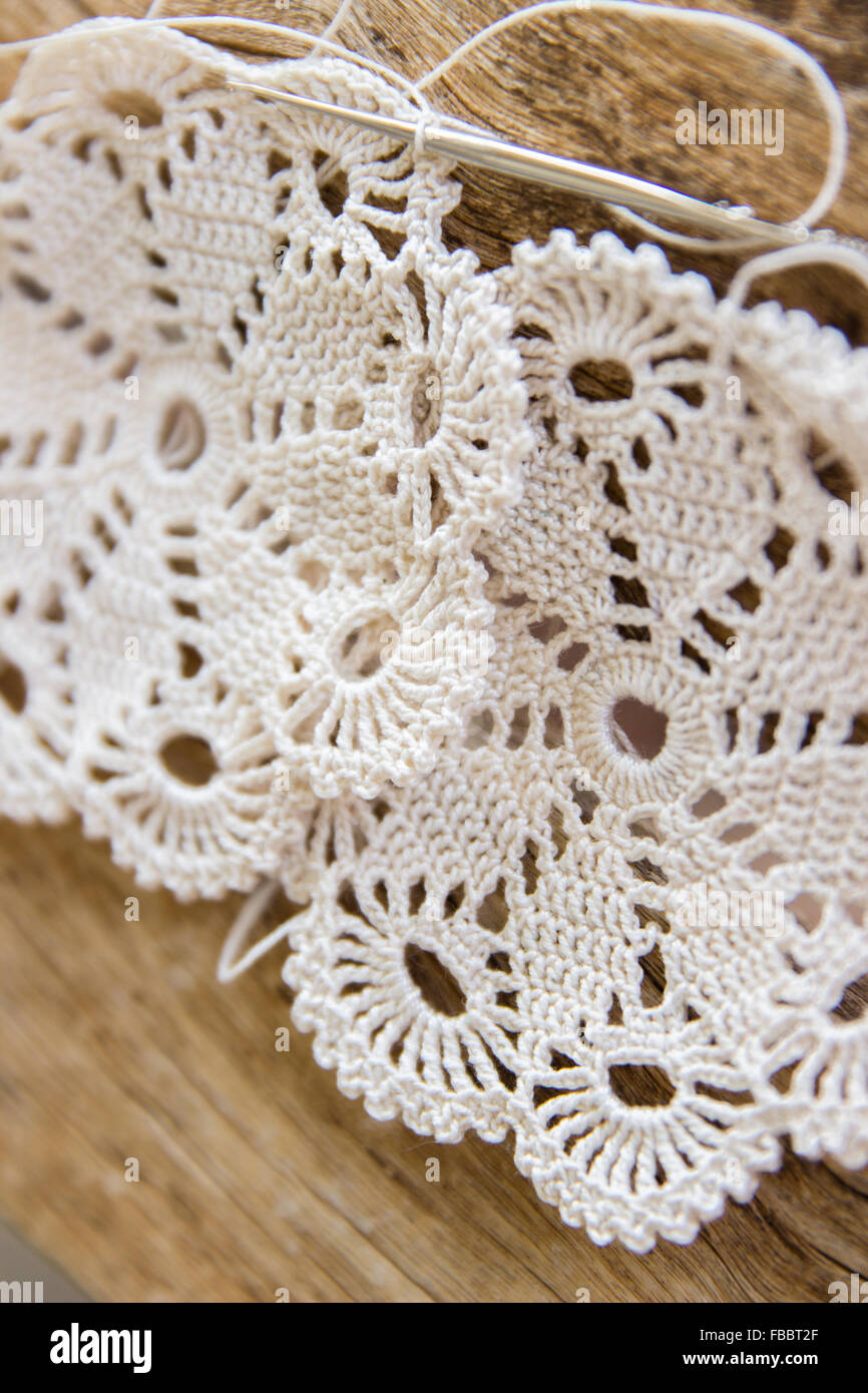Crochet Pattern Knitted Handmade Lace Wood Detail Stitch Texture