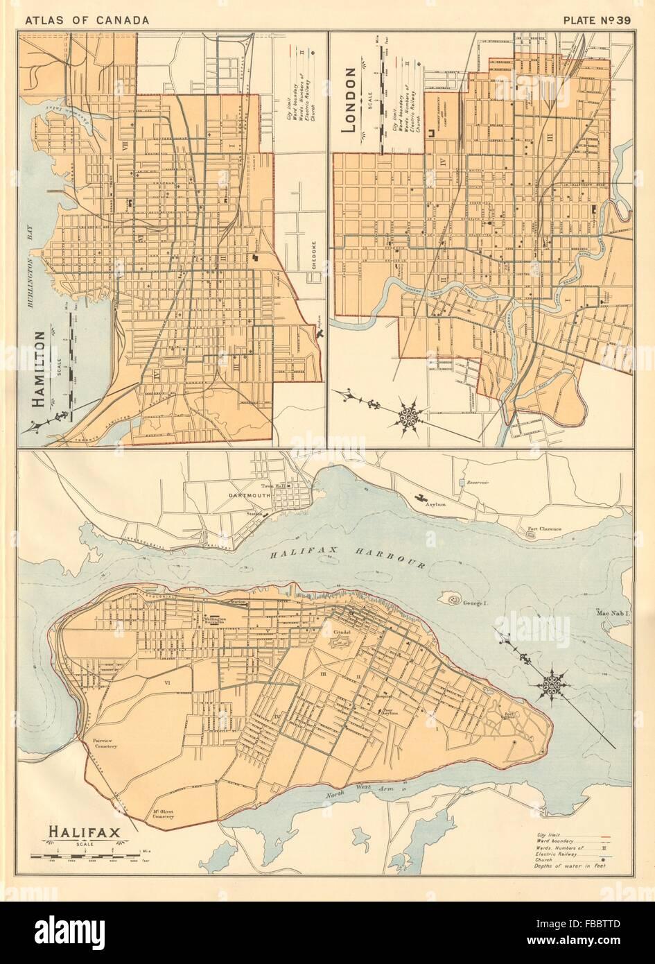 Hamilton Ontario Canada Map.Vintage Map Of Hamilton Ontario Stock Photos Vintage Map Of
