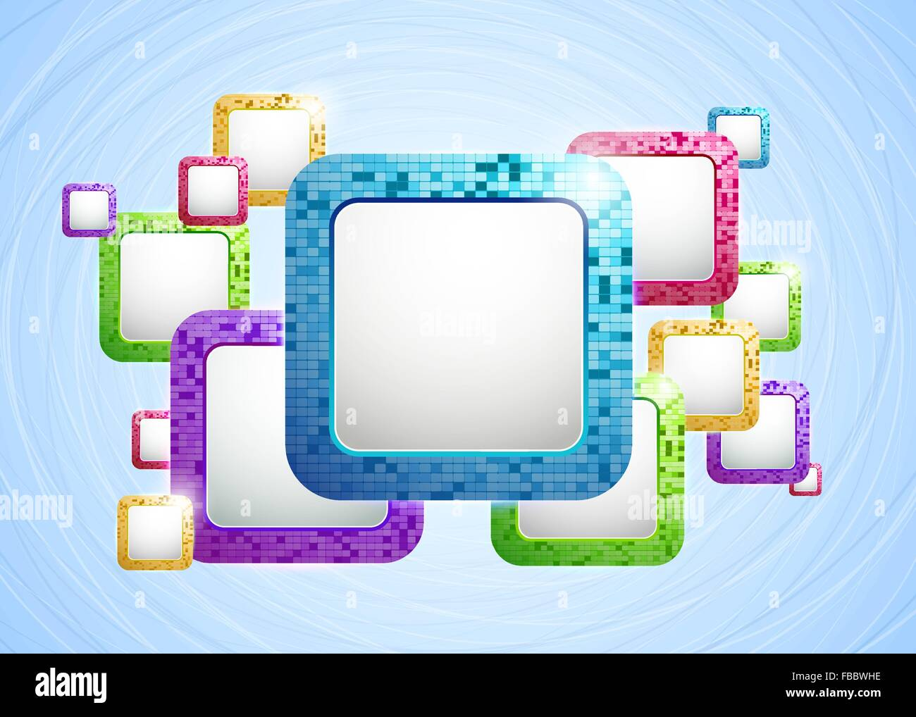 Abstract Vector Background with Colored Frames. EPS10 Stock Vector