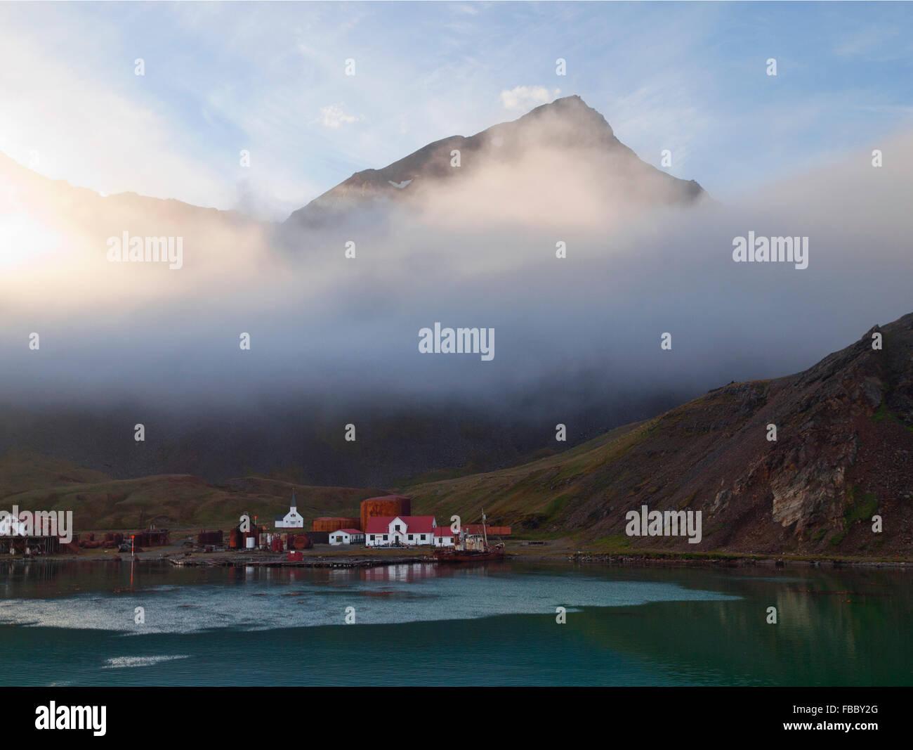 Grytviken, South Georgia - Stock Image