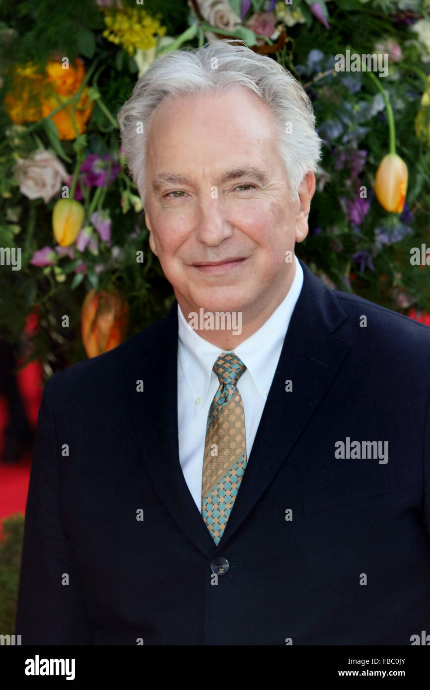 FILE PIC: London, UK. 13th April, 2015. UK Premiere of 'A Little Chaos' at the Odeon Kensington, London - Stock Image