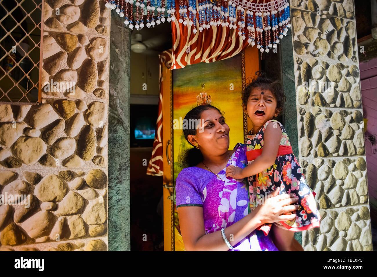 India Mumbai Bombay Macchimar Nagar Fishing Village Daily Life - Stock Image