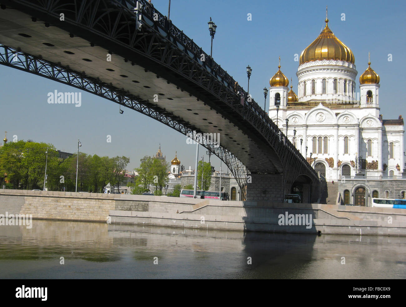 Moscow, cathedral of Jesus Christ Saviour - the biggest in the city. Date of recording 30.04.2008. - Stock Image