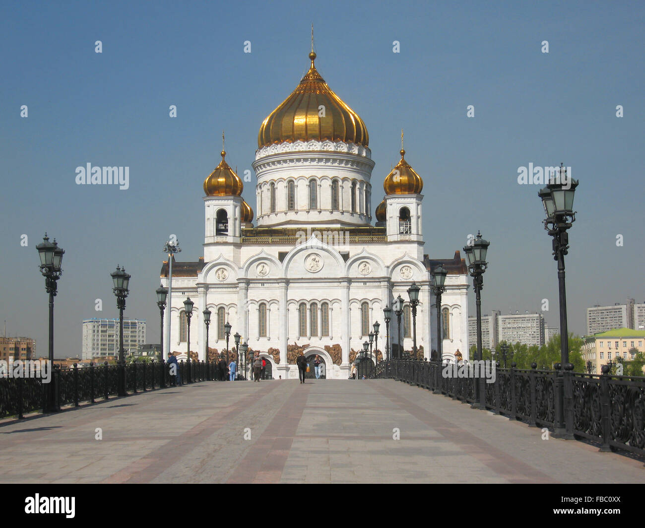 Moscow, cathedral of Jesus Christ Saviour. Date of recording 30.04.2008. - Stock Image