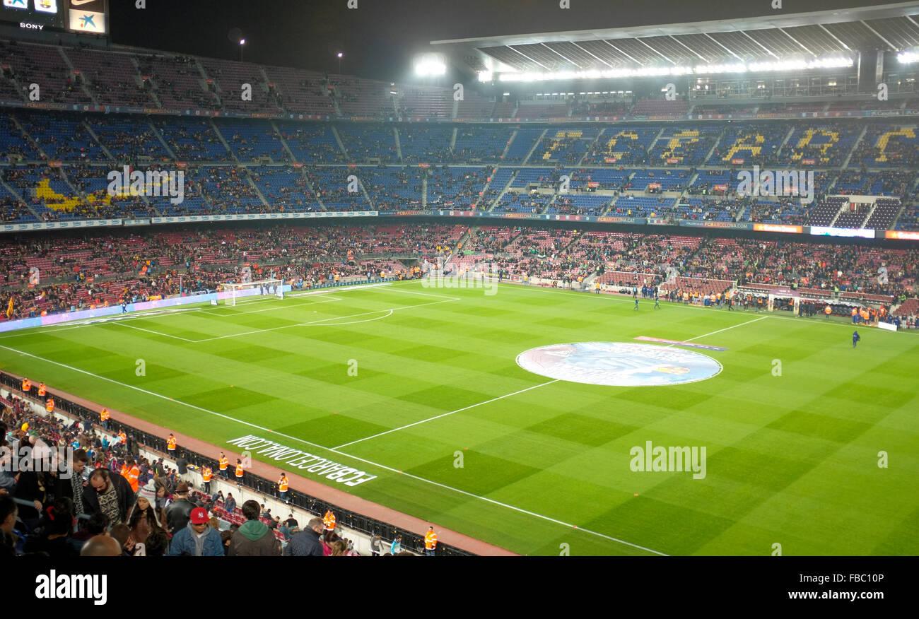 Camp Nou or Nou camp barcelona football stadium - Stock Image